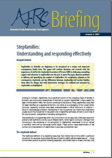 Step Families: Understanding and Responding Effectively