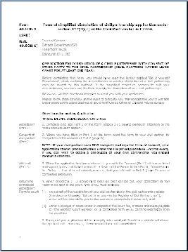 Form SPD - Application i dissolution of civil partnership (with consent ) 12 months non-cohabitation