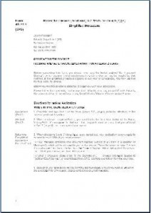 Form SPB - Application for divorce husband and wife having lived apart for at least two years