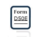 Form D50E