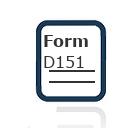 Form D151