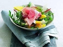 Parma Ham Feta and Melon salad