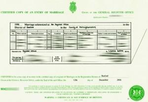 Obtaining a copy of your marriage certificate