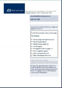 Application for Divorce Help kit (Help sheet and form)