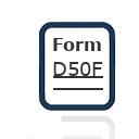 Form D50F