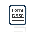 Form D650
