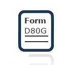 Form D80G